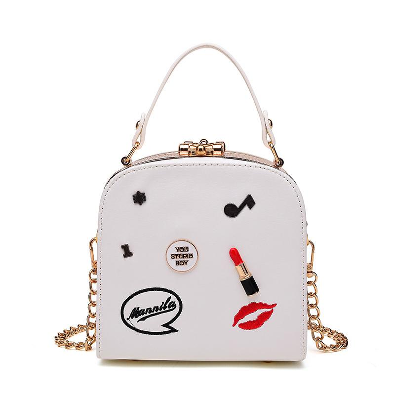 Messenger Bag&Crossbody Bag Lovely Trendy Chain Strap White Crossbody Bag фото