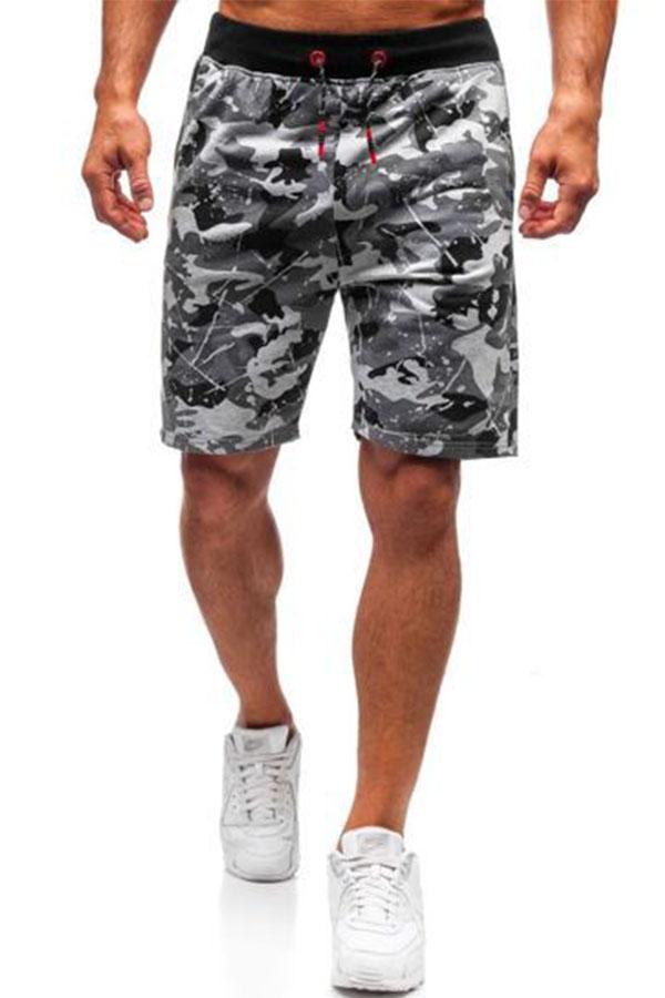Lovely Sportswear Print Light Grey Shorts