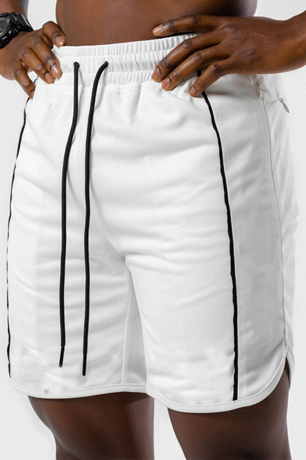 Lovely Sportswear Lace-up White Shorts