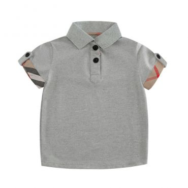 Lovely Leisure Button Grey Boys T-shirt
