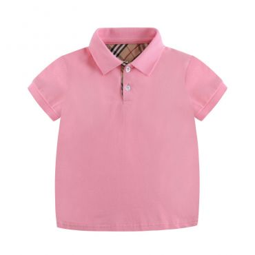Lovely Leisure Polo Pink  Boys T-shirt