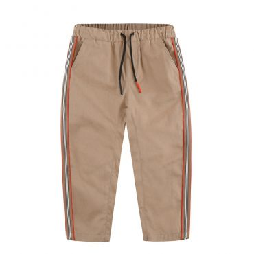Lovely Casual Striped Khaki Boys Pants