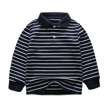 Lovely Leisure Striped Dark Blue Boys T-shirt