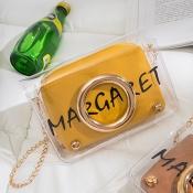 Lovely Chic Letter Yellow Messenger Bag
