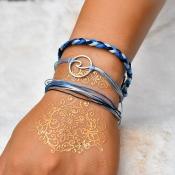 Lovely Bohemian 3-piece Blue Bracelet