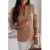 Lovely Work Button Khaki Blazer