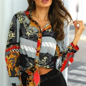 Lovely Casual Print  Multicolor Shirt