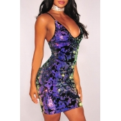 Lovely Party  Sleeveless Hollow-out Multicolor Min