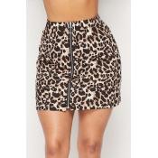 Lovely Chic  Leopard Print  Skirt