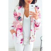 Lovely Trendy Print Multicolor Jacket