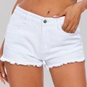 Lovely Casual Basic White Shorts