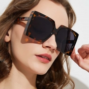 Lovely Retro Print Brown Sunglasses