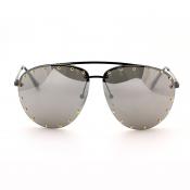 Lovely Stylish Rivet Decorative Black Sunglasses