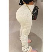 Lovely Casual Basic Skinny White Pants