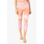 Lovely Sportswear Tie-dye Orange Leggings