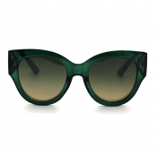 Lovely Chic Big Frame Design Green Sunglasses
