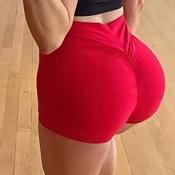 Lovely Sportswear Basic Skinny Red Shorts