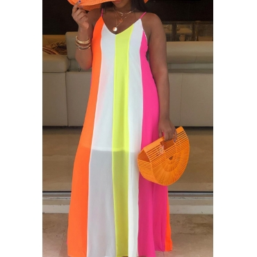 Lovely Bohemian Patchwork Multicolot Ankle Length Dress