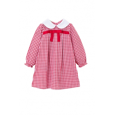 Lovely Sweet Plaid Print Girl Mini Dress