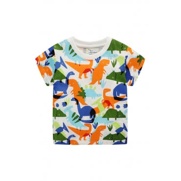 Lovely Casual Print Multicolor Boy T-shirt