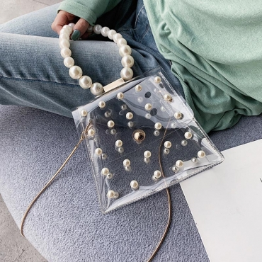 Lovely Chic See-through White Crossbody Bag