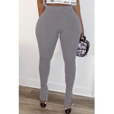 Lovely Leisure Basic Skinny Grey Pants