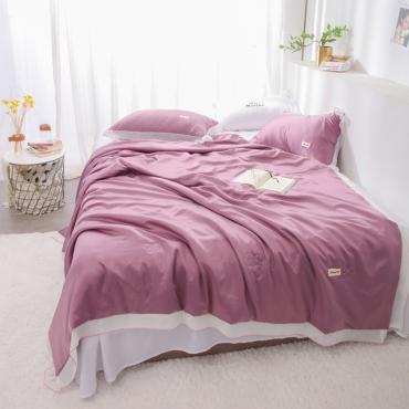 Lovely Chic Patchwork Purple Blanket