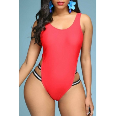 Lovely Cut-Out Red One-piece Swimsuit