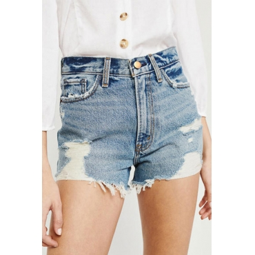 Lovely Trendy Patchwork Blue Shorts