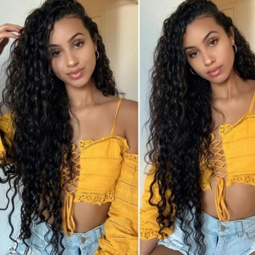 Lovely Chic Curly Black Wigs