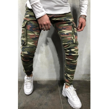 Lovely Trendy Camo Print Jeans