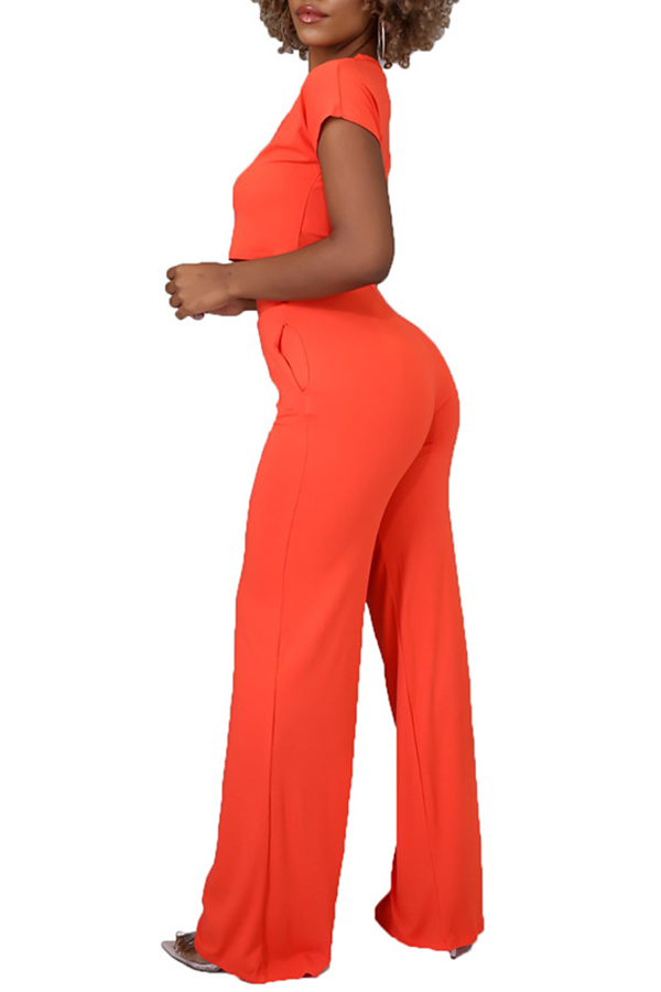 Lovely Leisure Basic Croci Plus Size Two-piece Pants Set