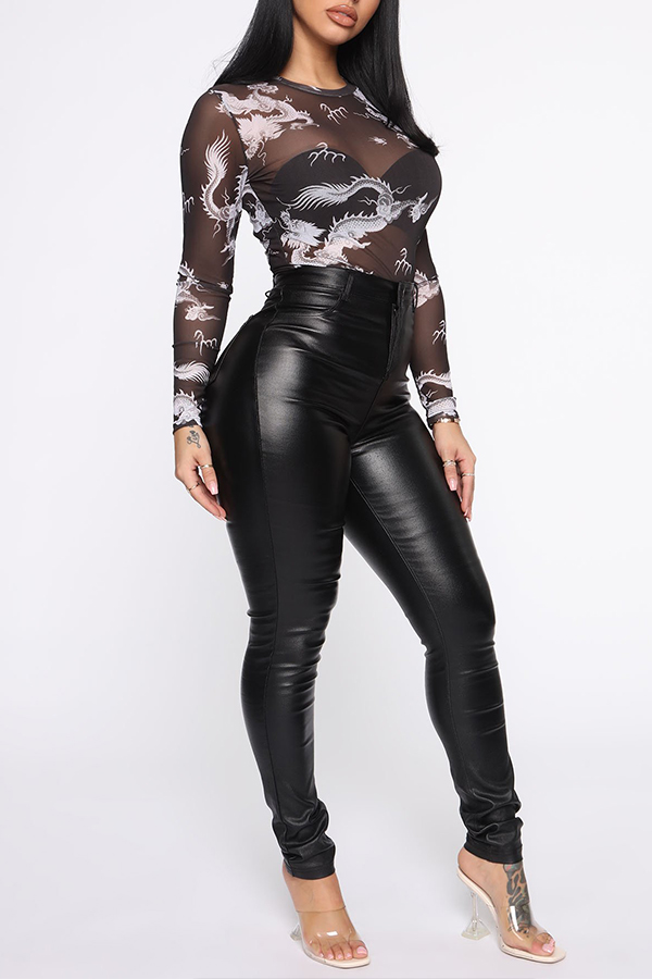 Lovely Trendy See-through Black Base Layer