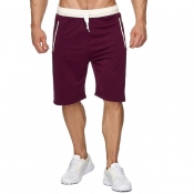 Lovely Sportswear Lace-up Wine Red Shorts