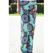 Lovely Bohemian Print Skyblue Pants