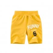 Lovely Trendy Letter Golden Yellow Boy Shorts