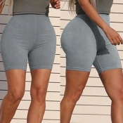 Lovely Leisure Basic Skinny Grey Shorts