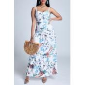 Lovely Trendy Print Multicolor Maxi Dress