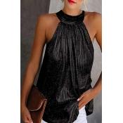 Lovely Trendy Sleeveless Black Plus Size Camisole