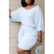 Lovely Leisure Fold Design White Plus Size Two-piece Shorts Set