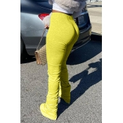 Lovely Stylish Basic Skinny Yellow Pants