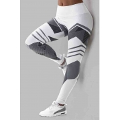 Lovely Sportswear Print White Plus Size Pants