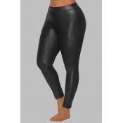 Lovely Sportswear Skinny Black Plus Size Pants