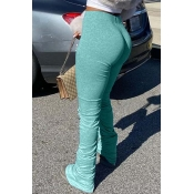 Lovely Stylish Basic Skinny Cyan Pants