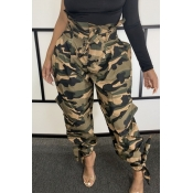 Lovely Stylish Patchwork Camo Print Pants