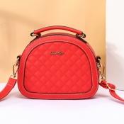 Lovely Stylish Zipper Design Red Crossbody Bag