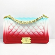 Lovely Trendy Chain Strap Red Crossbody Bag