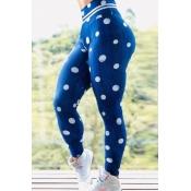 Lovely Sportswear Dot Print Blue Pants