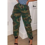 Lovely Casual Camo Print Pants