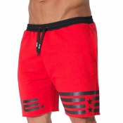 Lovely Sportswear Lace-up Red Shorts